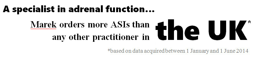 Marek orders more ASIs than any other practitioner in the UK